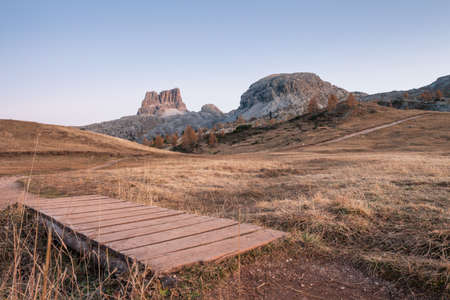 Sunset in the Dolomites area (Italy)