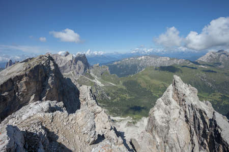 Landscapes from the top of the Puez, in Dolomites