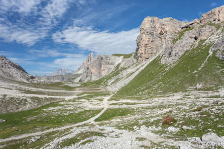 Landscapes from the Croda Fiscalina mount, in Dolomites