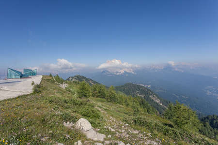 Landscapes from the top of the Monte Rite, in Dolomites