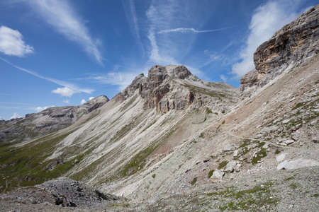 Landscapes from the Puez area, in Dolomites