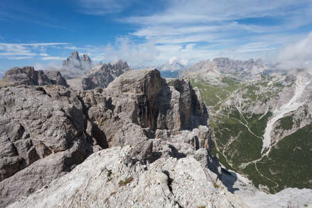 Landscapes from the top of the Croda Fiscalina mount, in Dolomites Banco de Imagens