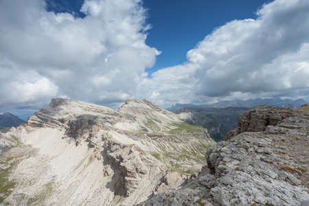 panorama from the Val Gardena area in Dolomites (Italy)