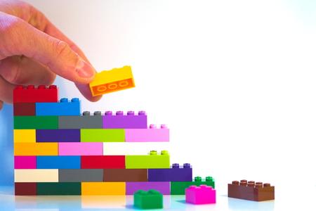 motivational construction of wall brick