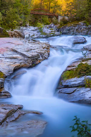 Orridi di Uriezzo. Long exposure of river rapids called