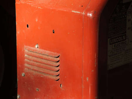 Closeup of the side of a welder. Imagens