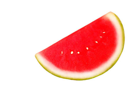 Slice of watermelon on white isolated background Stock Photo - 413833