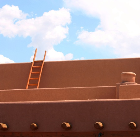 rafters: Adobe in Northern New Mexico
