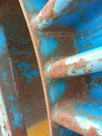 steel: Background of rust on blue steel Stock Photo