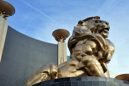 Las Vegas, Nevada, December, 30, 2009, Lion Statue, MGM Grand Hotel