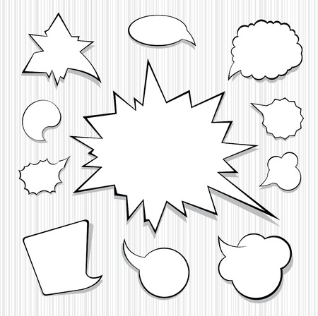 A Collection of Comic Style Speech Bubbles Vector