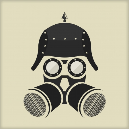 mascara de gas: Steampunk Diseño de personajes vintage con gafas