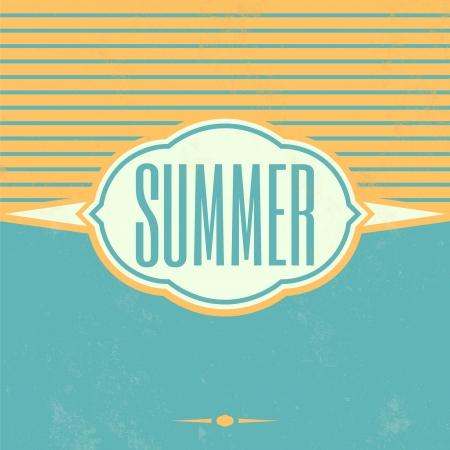 Retro Summer Vintage Background