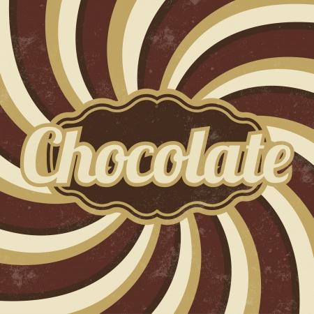 レトロなチョコレートの Sign ヴィンテージ背景