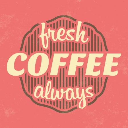 Retro Coffee Label   Vintage Background Vector