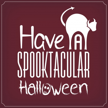 Have A Spooktacular Halloween   Typographic Template Vector
