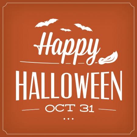 Happy Halloween October 31th   Typographic Template Vector