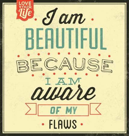 ♪♫♪ FELIIIIIIIZ CUMPLEAÑOS OLIIIIIIIIIIIIIII ♪♫♪ 22856046-vintage-template--retro-design--quote-typographic-background--i-am-beautiful-because-i-am-aware-of-m