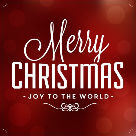 merry christmas and happy new year: Christmas Typographic Background - Merry Christmas - Joy To The World