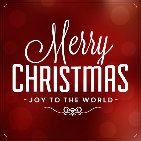 Christmas Typographic Background - Merry Christmas - Joy To The World