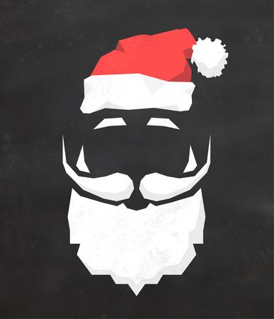 Christmas Typographic Background / Merry Christmas / Santa Иллюстрация