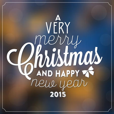 very: Christmas Typographic Background  A Very Merry Christmas And Happy New Year