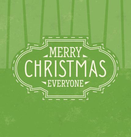 ビンテージ クリスマス タイポグラフィの背景レトロ デザインメリー クリスマス皆