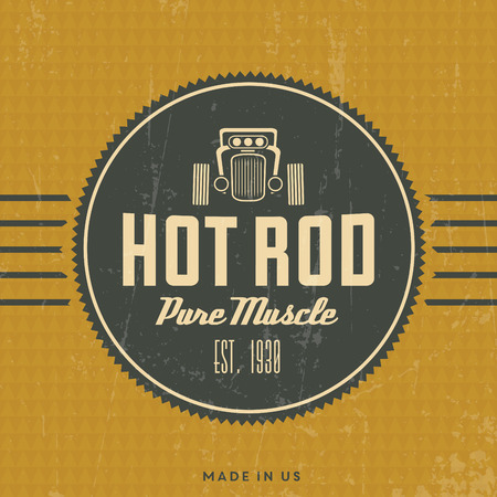hot wheels: Retro Hot Rod Poster  Vintage Design  Pure Muscle