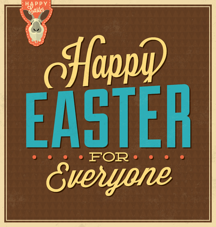 everyone: Happy Easter For Everyone  Vintage Background Design