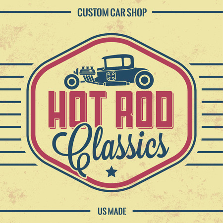 street rod: Retro Hot Rod Poster  Vintage Design  Old Classics