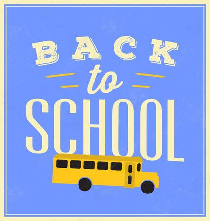 typographic: Back to School Typographic Poster Illustration
