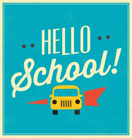 typographic: Hello School Typographic Poster