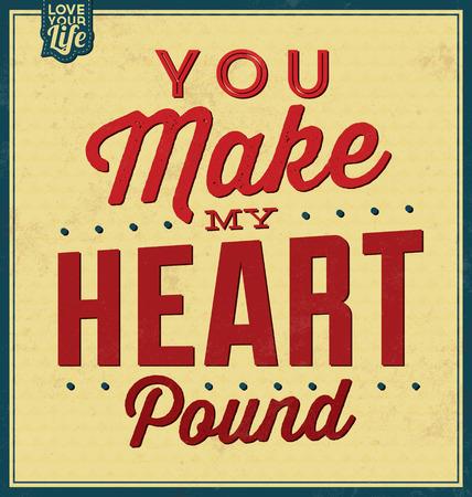 Plantilla de la vendimia / Diseño retro / Cita Fondo tipográfico / Love / Valentine