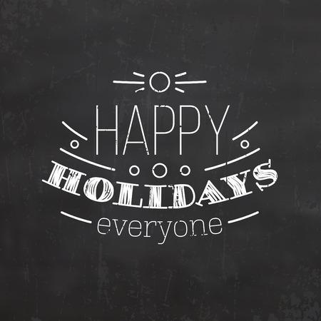 retro christmas: Christmas Typographic Background  Retro Design  Merry Christmas