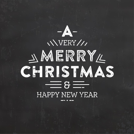 retro christmas: Christmas Typographic Background  Retro Design  Merry Christmas