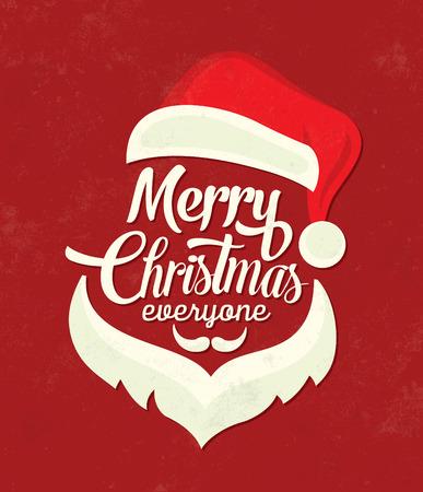 クリスマス文字体裁の背景メリー ・ クリスマスサンタ