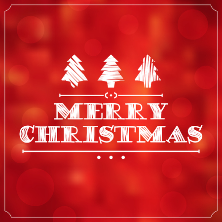 retro christmas: Christmas Typographic Background  Merry Christmas
