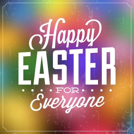 colorful grunge: Typographic Easter Poster  Grunge Design  Colorful Background