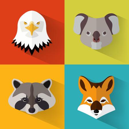 impresión: Retrato animal, creado con el ejemplo del plano de diseño  vector Vectores