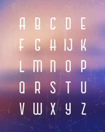 typographic: Alphabet Set  Typographic Vector
