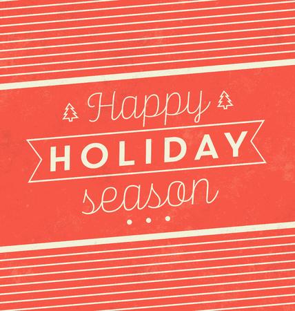 빈티지 크리스마스 표기 배경  레트로 디자인  해피 홀리데이 시즌