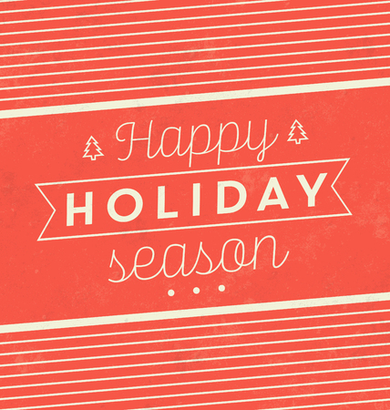 vacanza: Vintage Sfondo Natale tipografico  Retro Design  Happy Holiday Season