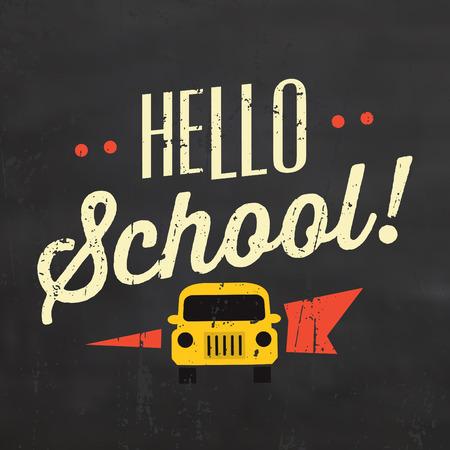 hi back: Hello School Typographic Poster