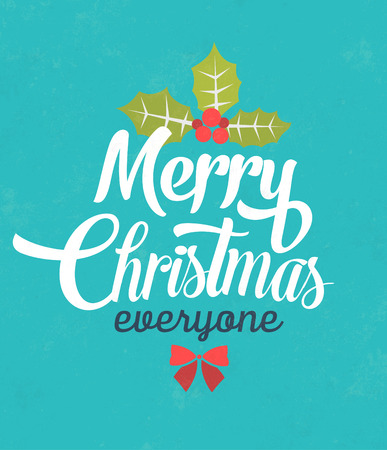 christmas concept: Christmas Typographic Background  Merry Christmas