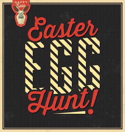 Happy Easter / Vintage Background Design / Easter Egg Hunt
