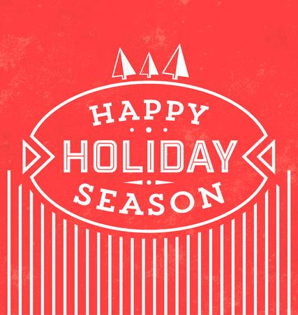 everyone: Vintage Christmas Typographic Background  Retro Design  Merry Christmas Everyone Illustration