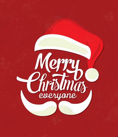 Christmas Background Typographic / Joyeux Noël / Santa Banque d'images - 53347954