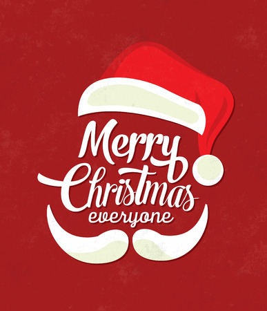 Christmas Typographic Background  Merry Christmas  Santa