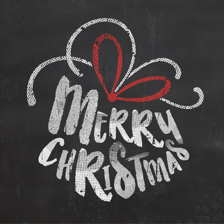 chalk board: Christmas Typographic Background  Merry Christmas
