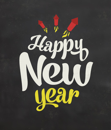 christmas eve: Vintage New Year Typographic Background